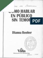 Dianna Booher - Cómo Hablar en Público Sin Temor