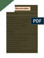 15 Reglas de Uso de Las Mayc3basculas
