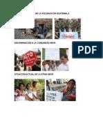 Causas y Efectos de La Violencia en Guatemala