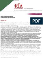 La Fuerza De La Cultura Podrá Evitar El Choque De Civilizaciones.pdf