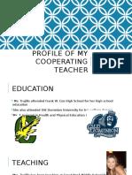 profile of my cooperating teacher