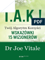 t a k Twoj Algorytm Korzysci Wskazowki 15 Wizjonerow Dr Joe Vitale