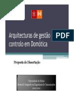 Dissertacao Arquitecturas Gestão Domótica