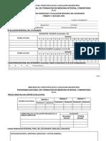 MIC-03c Modelo de Control de Actividades de 1ro y 2do Años