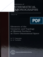 [Fomenko-Tuzhilin] Elements of the Geometry and Topology Of Minimal Surfaces