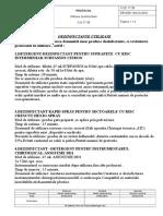 Protocol de Utilizare Dezinfectante 2016 Revizia 1