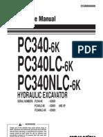 KOMATSU PC340 LC OPERATION AND MAINTENANCE MANUAL