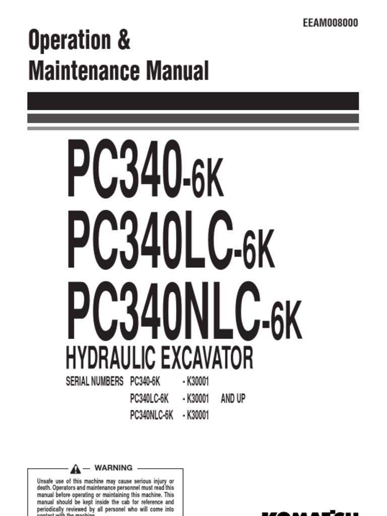 KOMATSU PC340 LC OPERATION AND MAINTENANCE MANUAL   Safety   Lock (Security  Device)