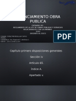 Financiamiento Obra Publica