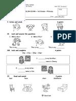 English Exam -2 b Prim 1. Julio.doc