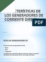 Características de Los Generadores de Corriente Directa