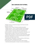Medidas Cancha de Futbol