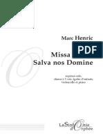 Misa Brevis Marc Henrick