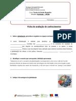 Sociologia -UFCD4 Ficha de Avaliação