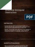 Síndrome bronquial Obstructivo