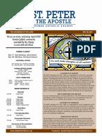 St. Peter the Apostle Bulletin 5-28-17