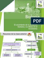 Clase 14 El Crecimiento de La Poblacion Humana y Su Efecto en El Ecosistema