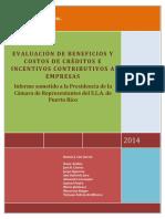 Evaluacion de Creditos e Incentivos Contributivos