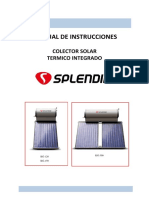 Manual Termosolar 120l Splendid