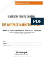 TwinEngine Brand Traffic Control One Page Marketing Plan