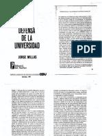 Millas Idea y Defensa de La Universidad