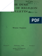 Duke School of Religion Feb 1940