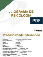 Presentacion Programa de Psicologia-Induccion