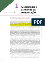 COSTA, Cristina. Sociologia Da Comunicação e Do Brasil, Cap. 1 (a Sociologia e as Teorias Da Comunicação)