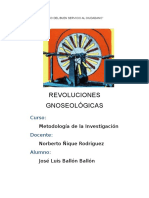 INFORME REVOLUCIONES GNOSEOLOGICAS