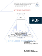 Kartu Hasil Praktikum Ekoper 2016