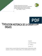Ensayo Evolucion Historica de La Orientacion