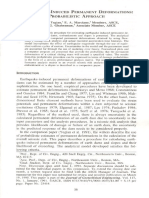 Earthquake Induced Permanent Deformations Probabilistic Approach