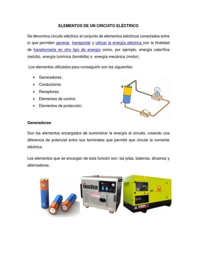 Circuito Electrico Basico : Elementos de un circuito elÉctrico pdf