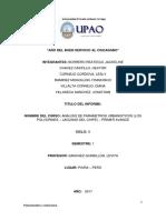 Informe Planificacion y Urbanismo