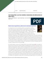 Juan Carlos Rey _ Los Tres Modelos Venezolanos de Democracia en El Siglo XX[1] _ La Bitácora de Pedro Mogna