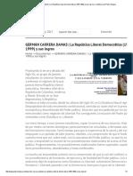 GERMÁN CARRERA DAMAS _ La República Liberal Democrática (1945-1999) y Sus Logros _ La Bitácora de Pedro Mogna