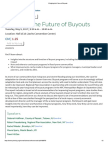 Weighing the Future of Buyouts