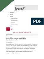 Intelletto Possibile Enciclopedia Dantesca