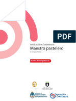 Certificación de Competencias Maestro pastelero