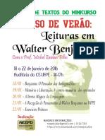 Curso de Verão -Leituras Em Walter Benjamin _ ROTEIRO de LEITURAS