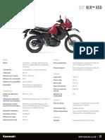 Kawasaki Latin America Specification Sheet