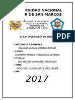 2. ÍNDICE DE LOS PRECIOS DE ORO Y PLATA