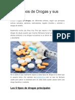 Los 6 Tipos de Drogas y Sus Efectos
