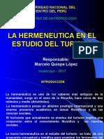 Hermeneutica en El Estudio Del Turismo