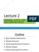 Lecture 2A - Demand, Supply, Equilibrium Prices