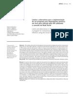 Limites e alternativas para a implementação programa utilizando rede social