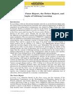 Unesco Faure Report Delors Report