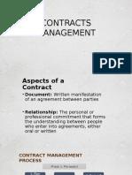 Contracts Management Presentation