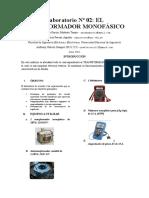 Informe Previo Trafo Monofasico Maquinas