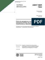 Nbr 7503 Pb 977 - Ficha de Emergencia Para O Transporte de Produtos Perigosos - Caracteristicas E